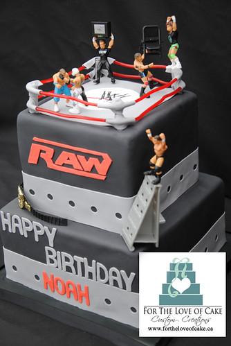 Bc4068 Wwe Raw Wrestling Birthday Cake Flickr Photo