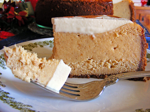 Sweet Potato Cheesecake with Marshmallow-Sour Cream Topping
