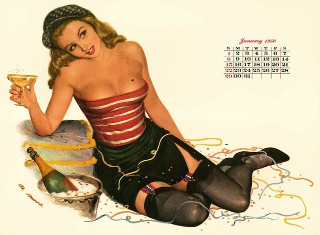 Pin Up Calendar Vintage : Cebd z g zz