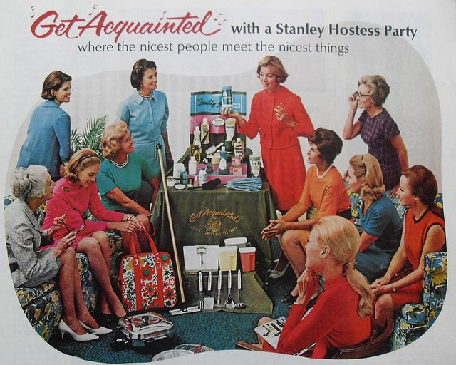 1969 vintage advertisement housewives women Stanley Home Products Party