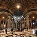 Baldacchino di San Pietro e La cupola di Michelangelo, Basilica di San Pietro in Vaticano, Italia (Large version) by Gaston Batistini