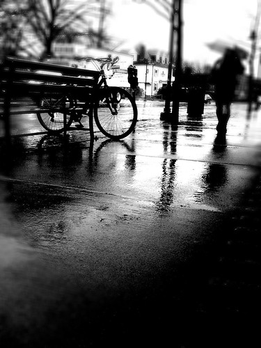 motion blur rain bicycle boston mobile photoshop reflections bench brookline iphone bostonist 365project 54365 day054 photogene yiip iphoneography 2242010