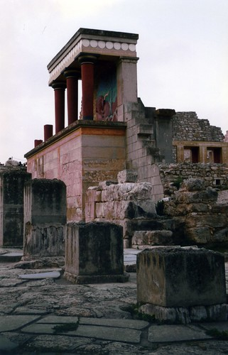 Minoan palace at Knossos, Crete