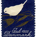 Denmark Christmas seal: bird