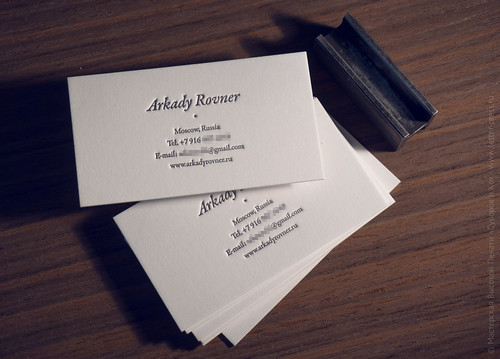 объемная печать визитка