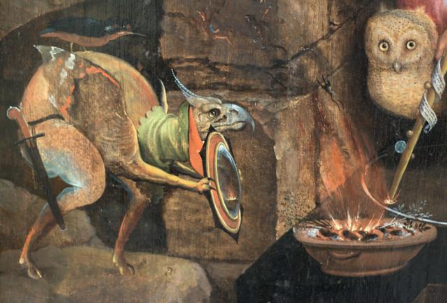 Museum Boijmans van Beuningen - Saul bij de heks van Endor, Jacob Cornelisz van Oostsanen - detail