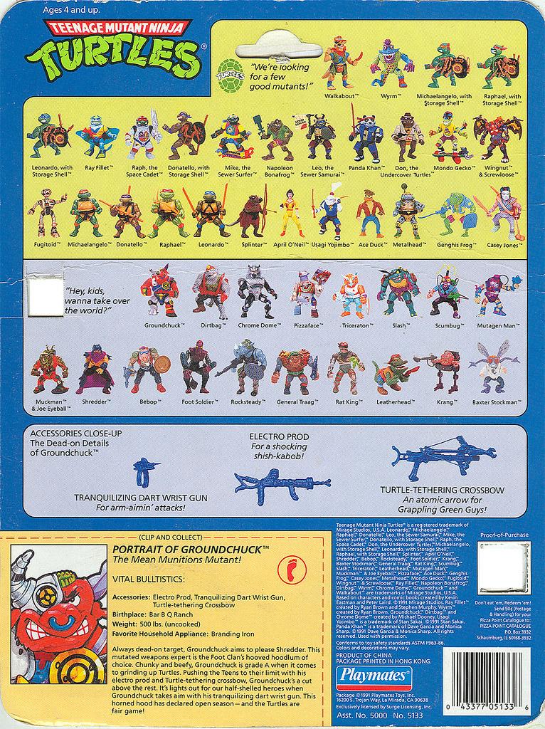Teenage Mutant Ninja Turtles Groundchuck Card Backer Flickr