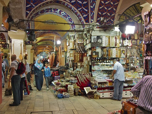 Inside the Grand Bazaar, Istanbul