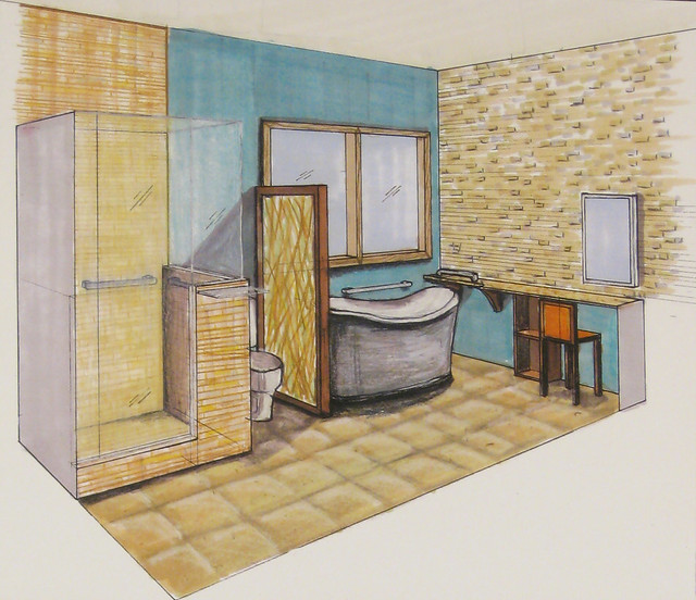 Residential bath design perspective flickr photo sharing for Residential bathroom remodeling