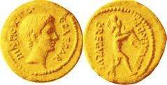 494/3 Aureus Octavian Aeneas bearing Anchises