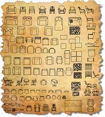 CAD Furniture Chair Symbols