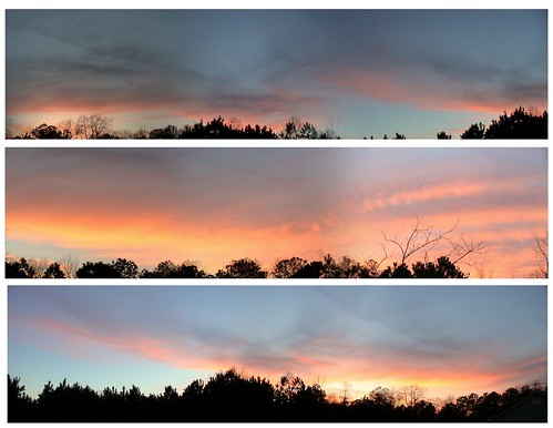 sunset nature skyline panaroma