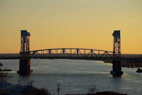bridge sunset river nc pentax dusk northcarolina wilmington capefear capefearmemorialbridge