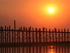 U Bein Bridge Sunset2