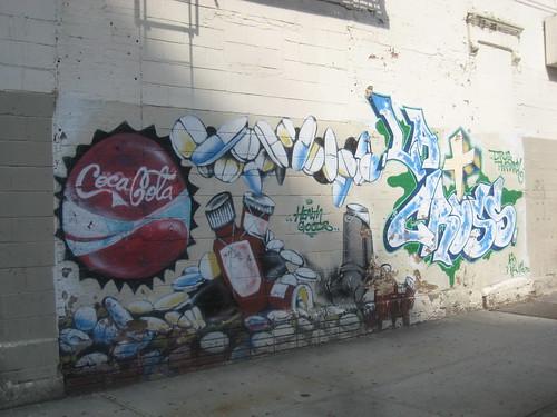 coca cola graffitti