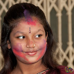 Girl Gets into Holi Celebrations - Old Dhaka, Bangladesh