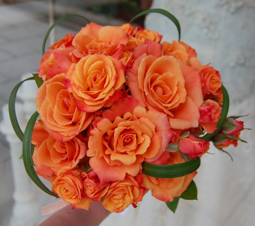 ORANGE WEDDING BOUQUET WEDDING BOUQUET AMERICAN INDIAN FLOWERS