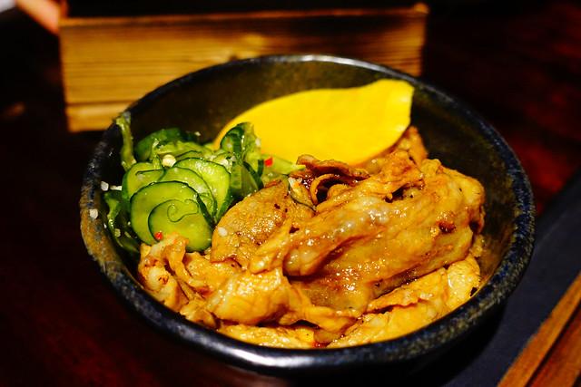 碳烤豬五花飯 (NTD$80)@花蓮老時光居酒屋