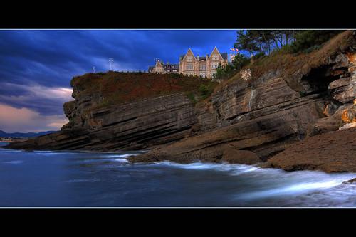 autumn beach de spain palace magdalena santander cantabria palacio