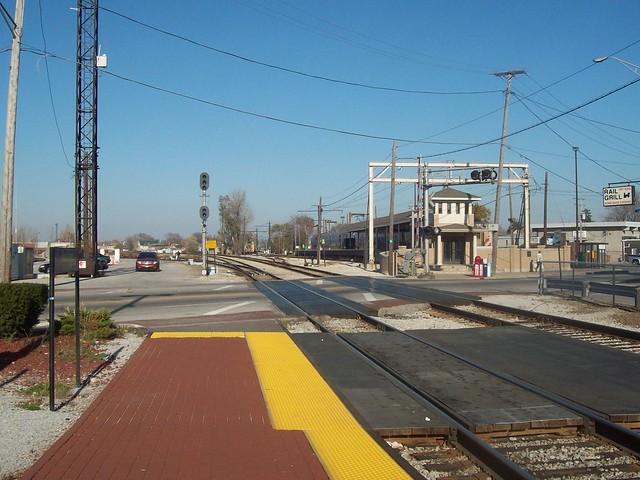 Metra Rock Island Train Platform
