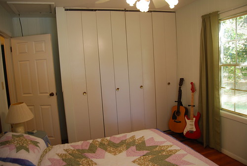 Closets in the guest room