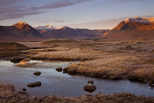 Frost, first light, Rannoch Moor. 200 favs, thank you!