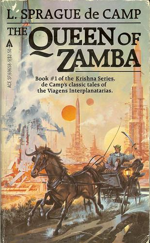 The Queen of Zamba - L. Sprague de Camp - cover artist Paul Alexander