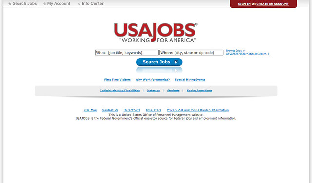 USAJOBS redesign in 2010 | Flickr - Photo Sharing!