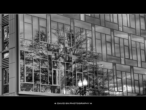 Mercy Corps World Headquarters Portland Oregon- HDR B/W