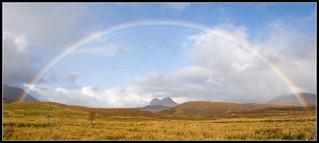 Rainbow over Suilven