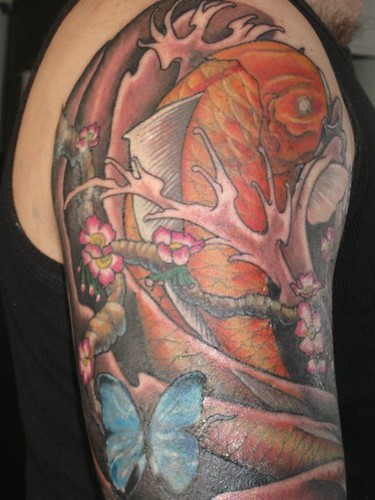 Koi and butterfly s tattoo flickr photo sharing for Butterfly koi tattoo