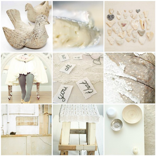 dreamy whites, Flickr mosaic curated by Emma Lamb