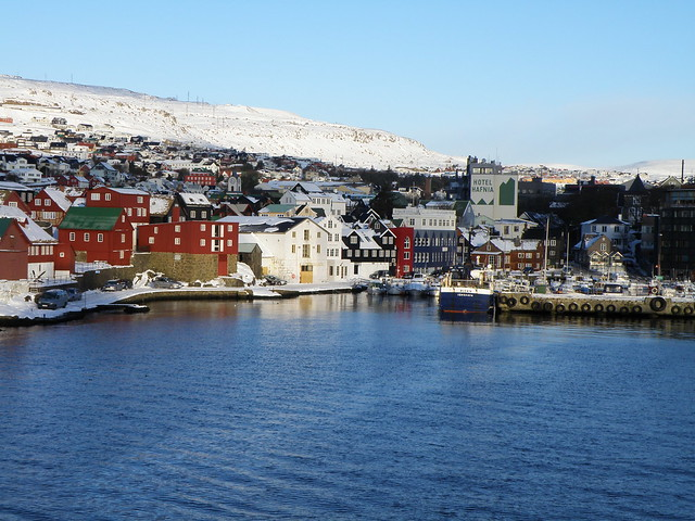 Eastern Harbor of Tórshavn, Tinganes and the Town