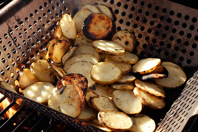 Grilled Potato and Arugula Salad with Fresh Herbs