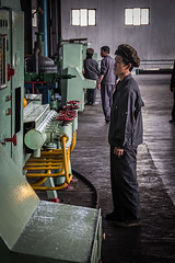 Worker At Hungnam Fertiliser Complex, Hamhung, North Korea