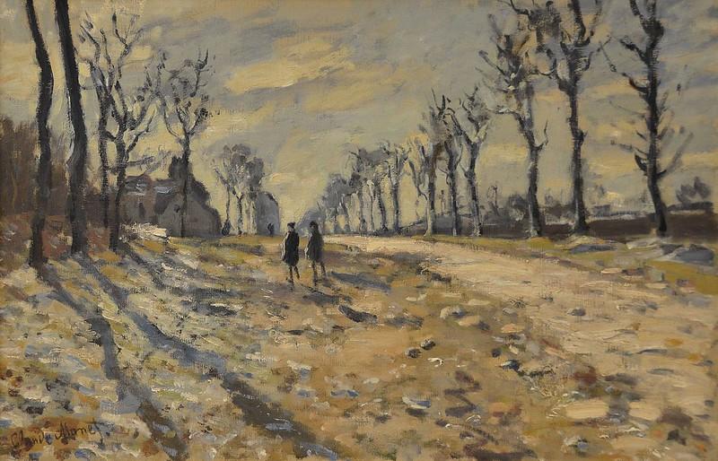 """Rouen (Seine-Maritime) - Musée des Beaux-Arts - """"Route, effet de neige, soleil couchant"""" (Claude Monet, 1840-1926)"""