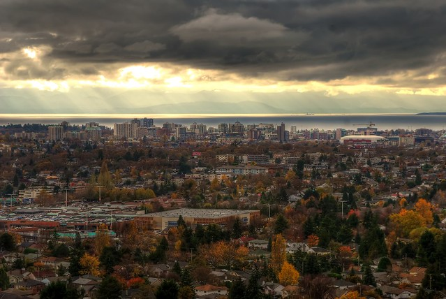 Victoria B.C Skyline from Mount Tolmie (HDR series)