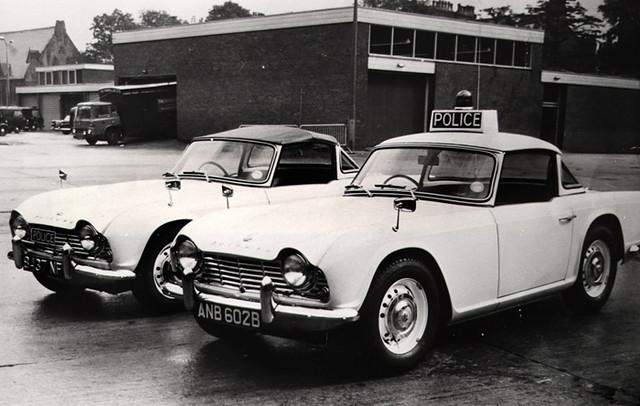 Triumph TR4 Police Patrol Cars