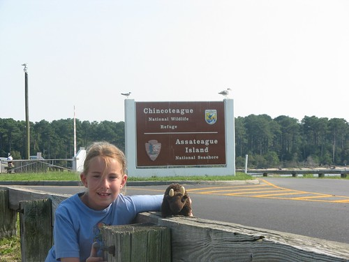 Evelyn and Buddy at the Chincoteague NWR in VA