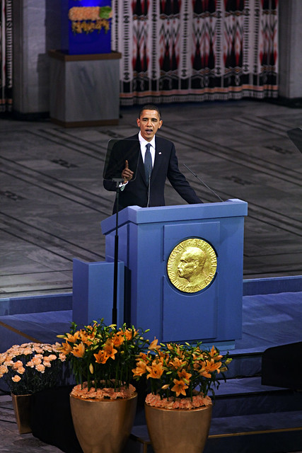 Obama receives Nobel Peace Prize in Oslo