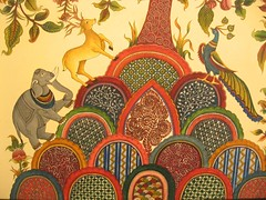 A painting at a kalamkari exhibition