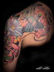 galleries tattoo kolibri blumen flickr photo sharing. Black Bedroom Furniture Sets. Home Design Ideas