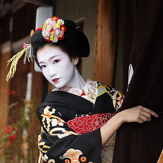 beautiful / geisha / face / maiko / kyoto / japan / portrait