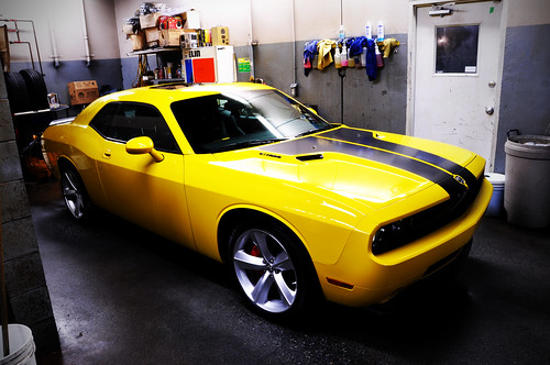 Detonator Yellow Dodge Challenger SRT8