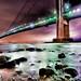 Verrazano - Narrows Bridge, in the rain by mudpig