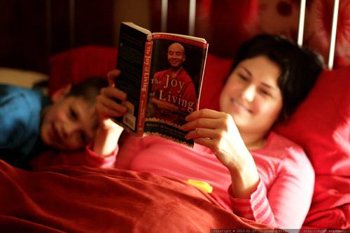a little light reading before bedtime