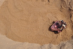 Me Buried in a Sand Castle on Ballito Beach