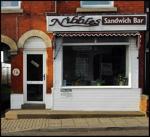Gainsborough Shopfronts: Nibbles Sandwich Bar, Lea Road
