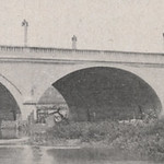 Completed in 1913, the King Avenue Bridge spanned the Olentangy River and was the first in the county to be made with concrete arches.