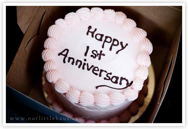 Wedding cake on 1st anniversary: st wedding anniversary cake flickr